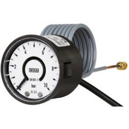 Bourdon tube pressure gauge with electrical output signal, model PGT02